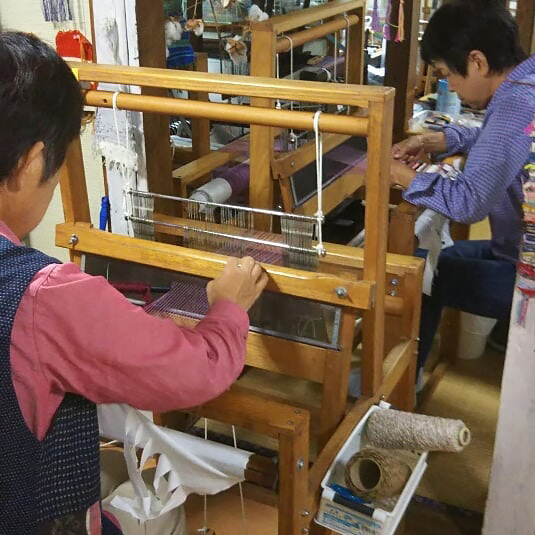 手織り工房わくわく本舗の生徒さん