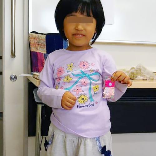 手織り工房わくわく本舗に遊びに来てくれた子どもたち