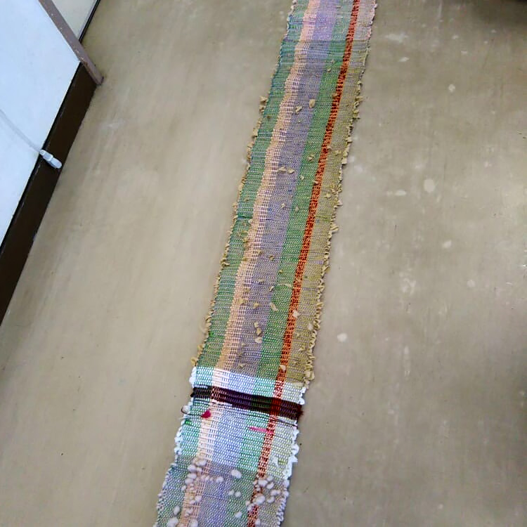 裂き織り体験講座・生徒さんの作品