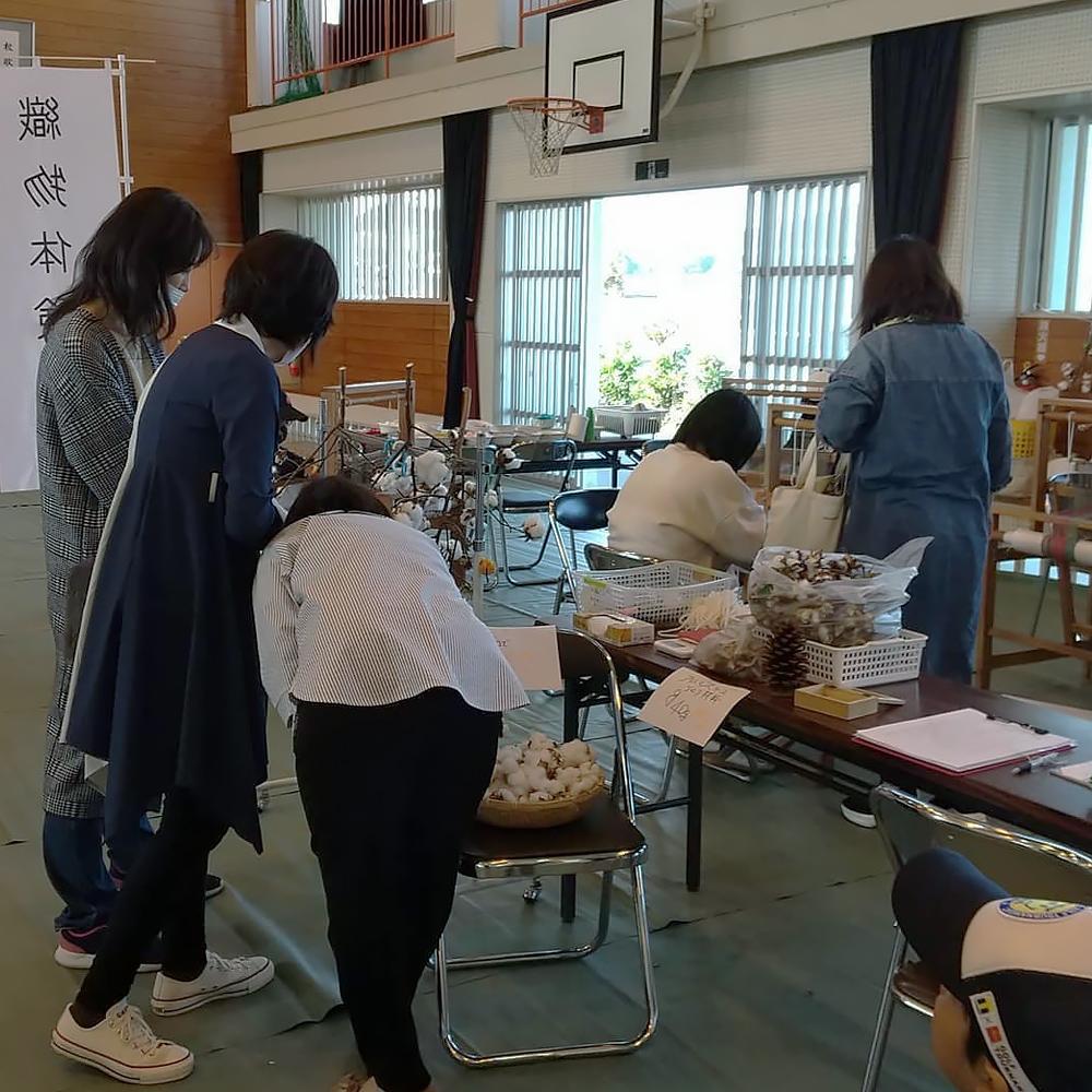 手織り工房わくわく本舗ワークショップ(皇徳寺校区秋まつり)