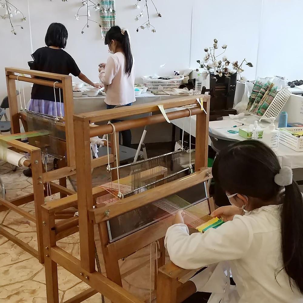 手織り工房わくわく本舗ワークショップ(地域まるごと環境フェスタ in 谷山)