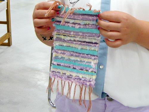 手織りのコースター