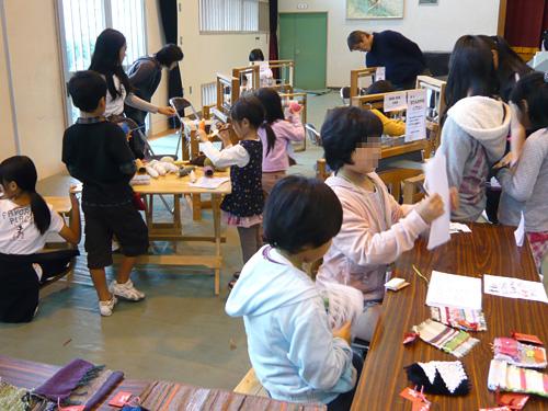 織物体験教室(西田小バザー)