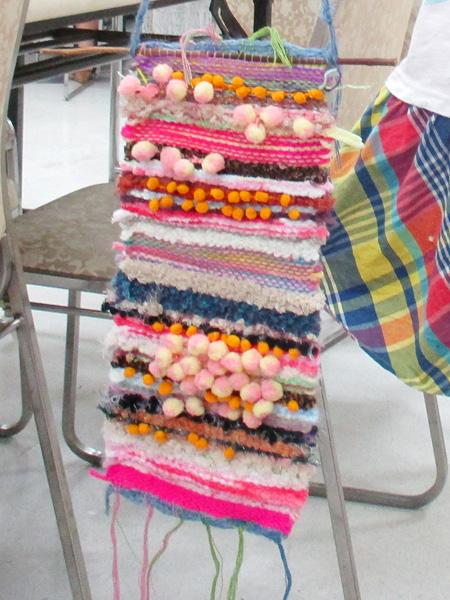 手織りのタペストリー